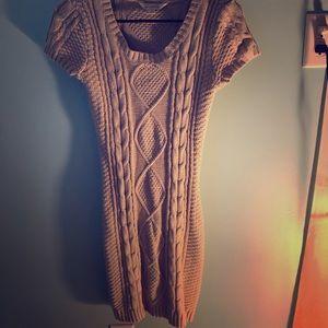 Creme Sweater Dress